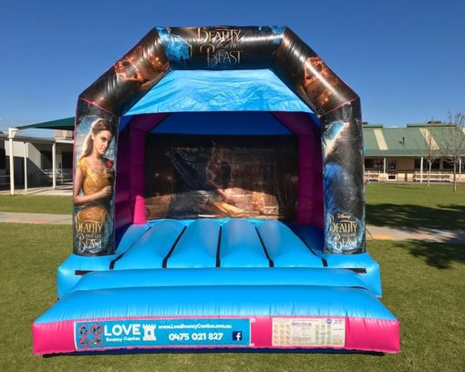 BEAUTY AND THE BEAST THEMED BOUNCY CASTLE    $299