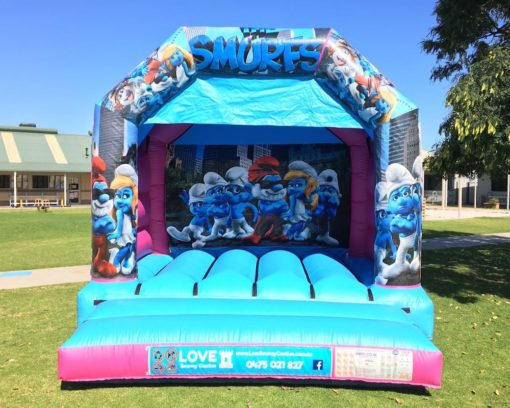 Smurfs Bouncy Castle Hire Baldivis