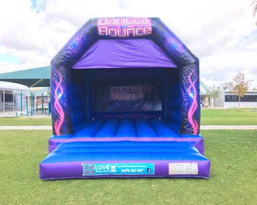 DANCE AND BOUNCE LARGE BOUNCY CASTLE BLUE $349