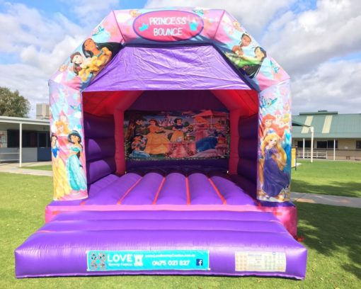 Disco Princess Adult Bouncy Castle Hire Baldivis