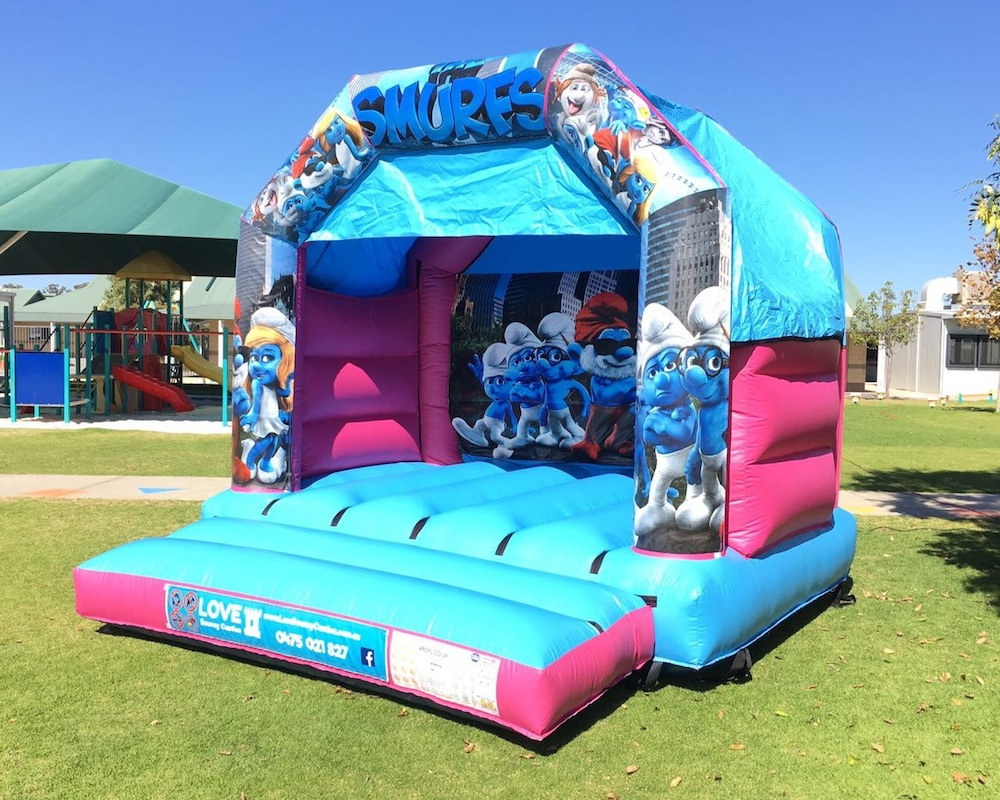 Smurfs Bouncy Castle Hire 2