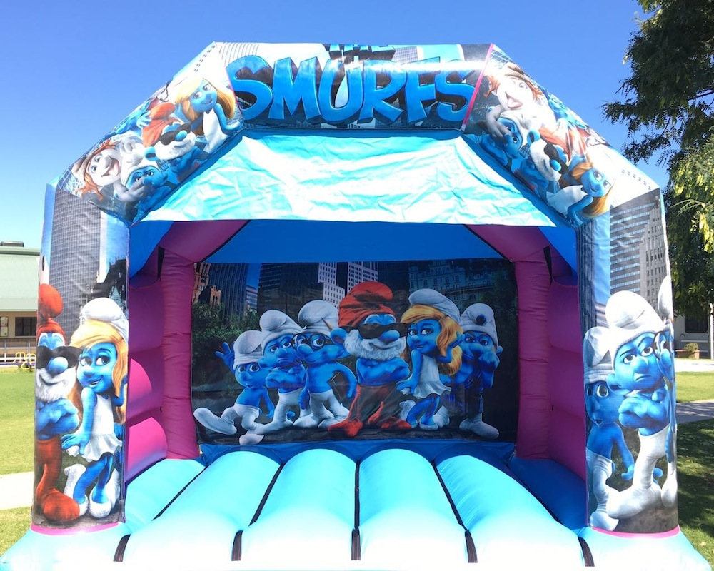 Smurfs Bouncy Castle Hire Mandurah