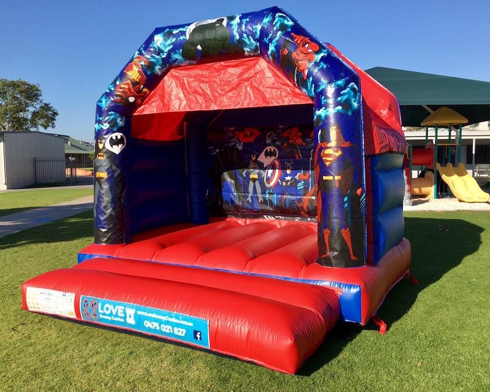 Super Heros Bouncy Castle Hire Rockingham