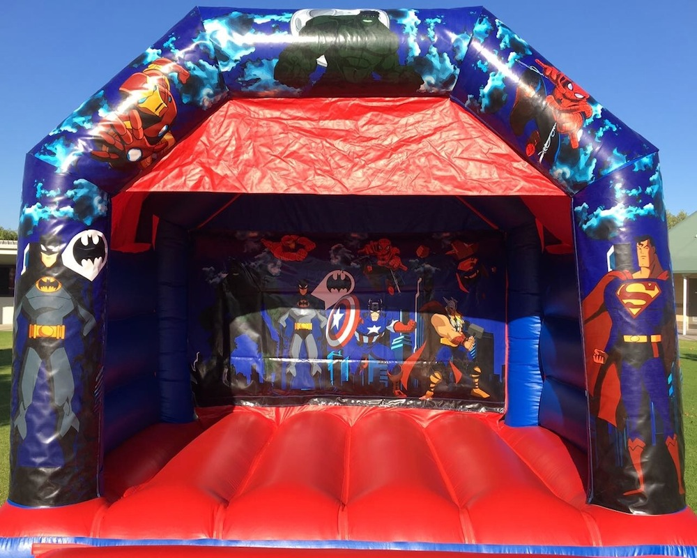 Super Heros Bouncy Castle Hire Mandurah