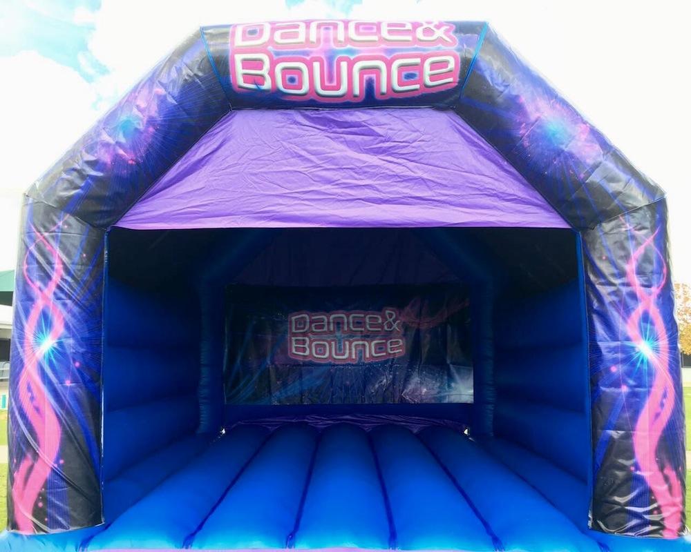 Blue Dance and Bouncy Adult Bouncy Castle Hire Mandurah