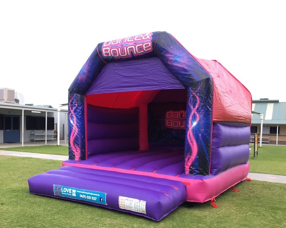 Pink Dance and Bouncy Adult Bouncy Castle Hire Rockingham