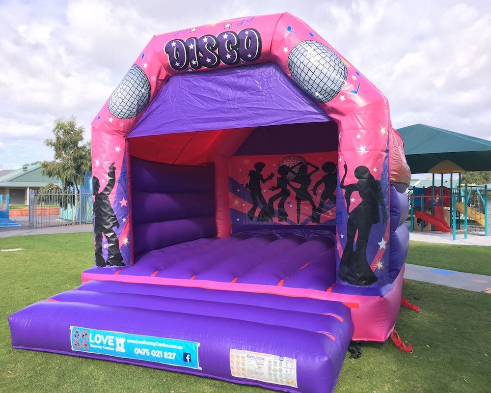 Pink Disco Fever Adult Bouncy Castle Hire Rockingham