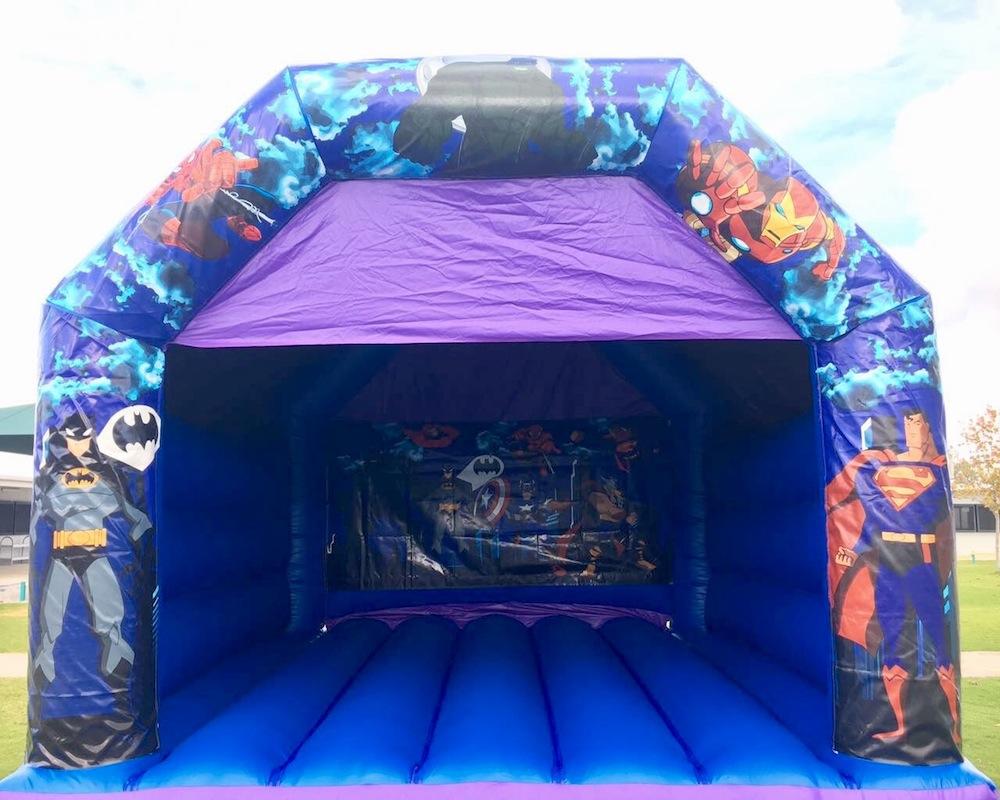 Adult Super Heros Bouncy Castle Hire Mandurah