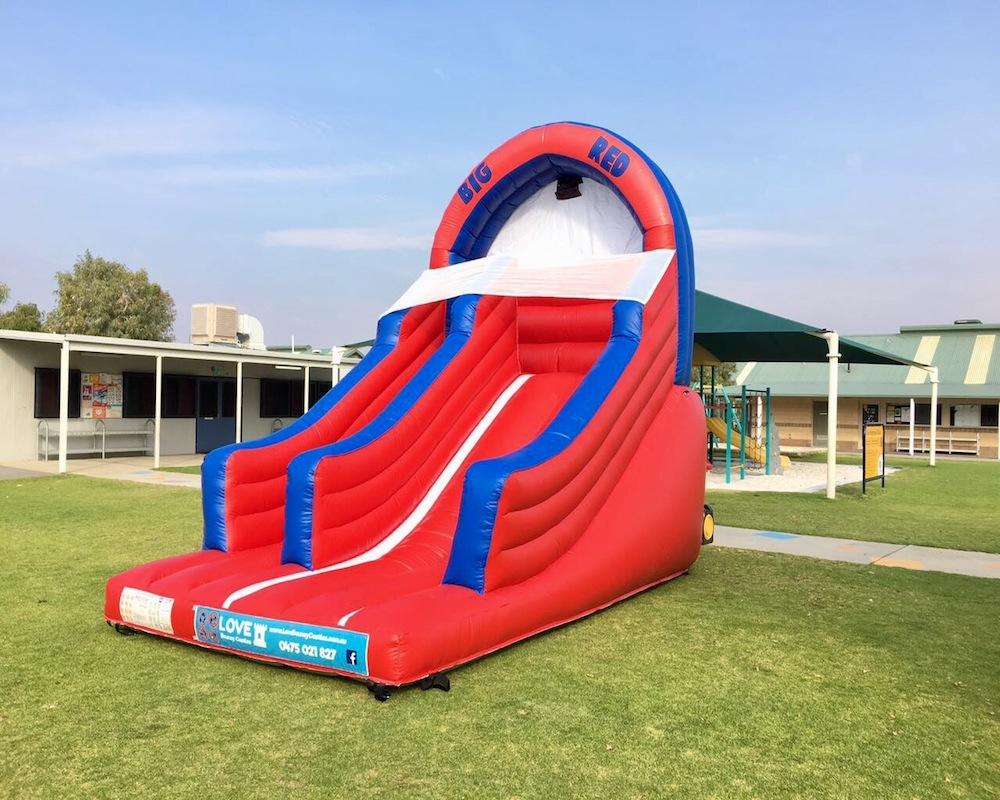 Big Red bouncy castle super slide hire 3
