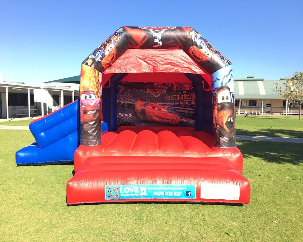 Cars bouncy castle hire with slide Baldivis