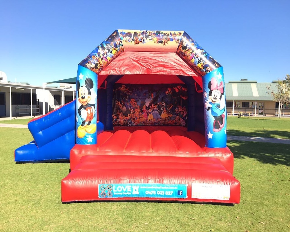 Disney bouncy castle hire with slide Baldivis