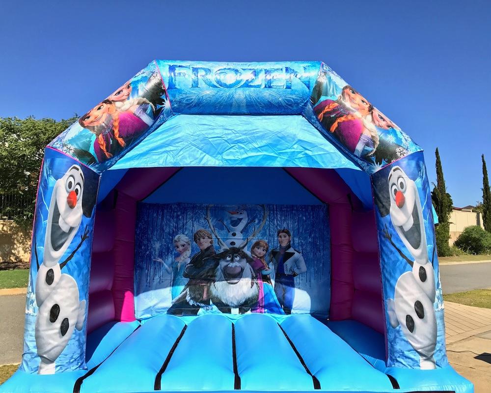 Frozen bouncy castle hire with slide Mandurah