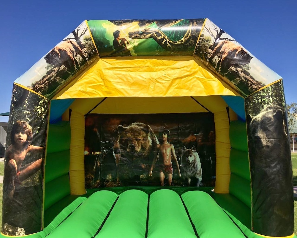 Jungle Book bouncy castle hire with slide Mandurah