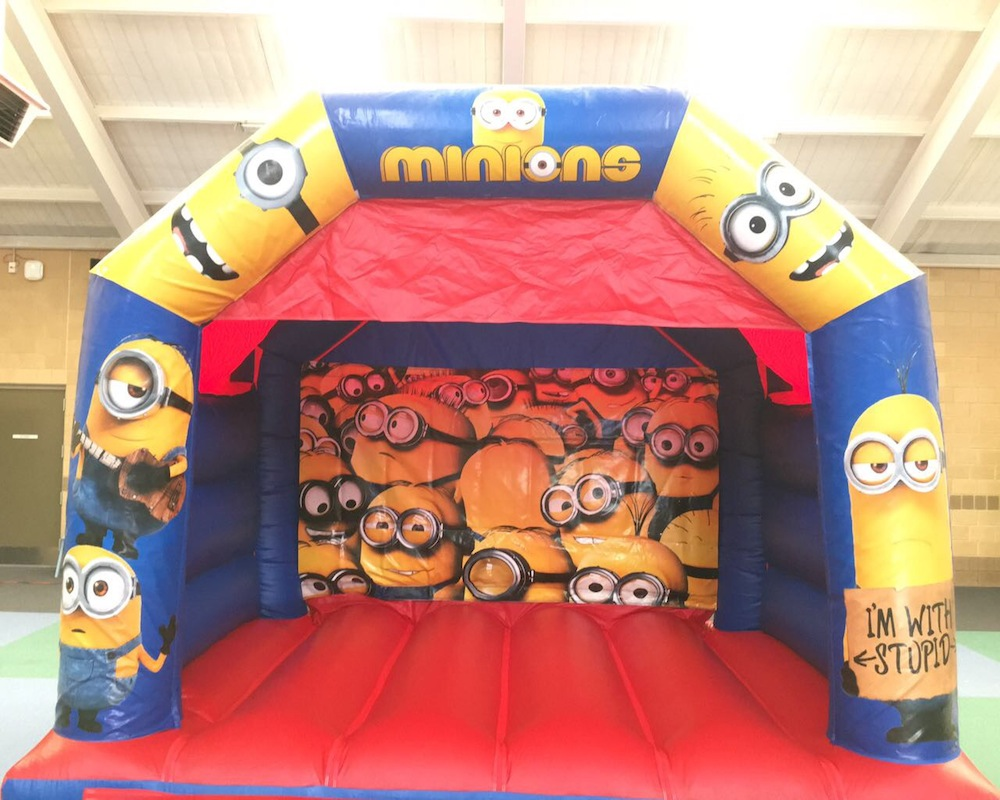Minions bouncy castle hire with slide Rockingham