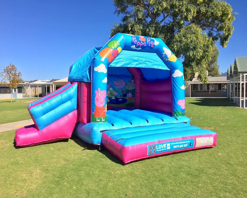 Peppa Pig combo bouncy castle hire 2