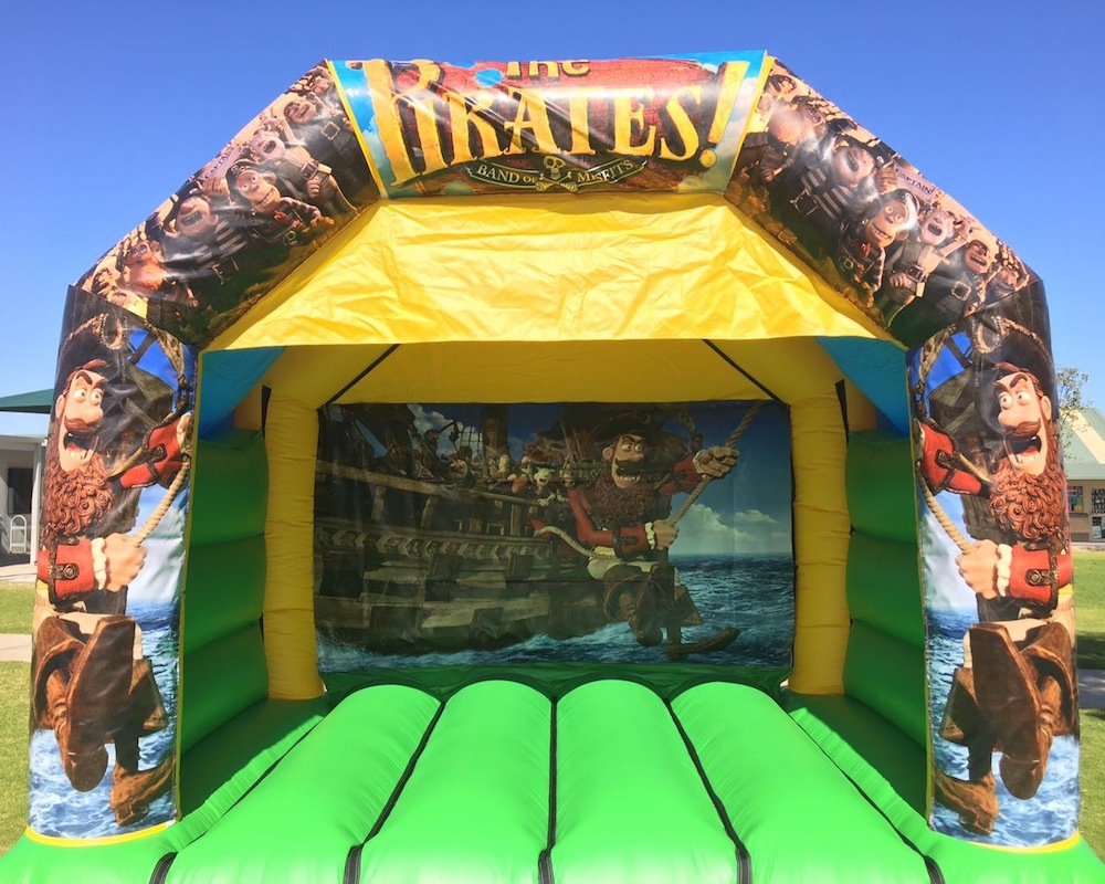 Pirates bouncy castle hire with slide Mandurah