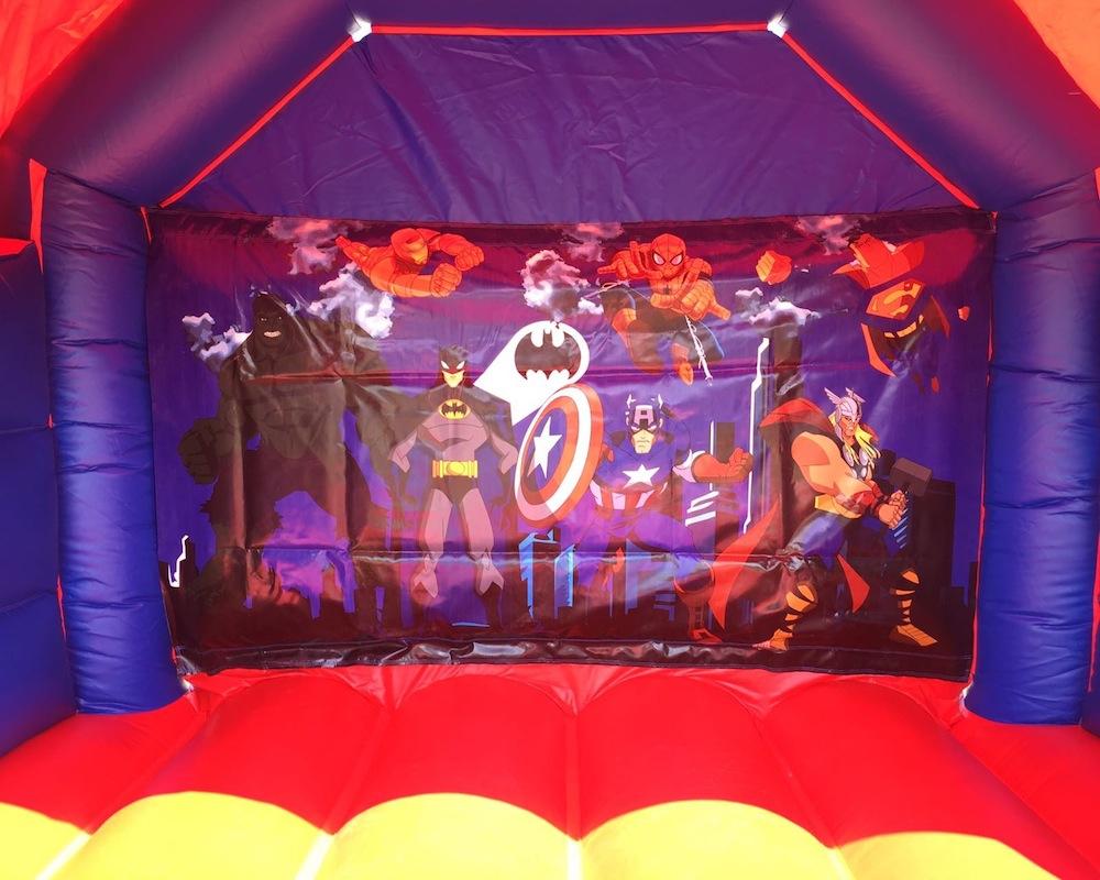 Super heros combo bouncy castle hire 3