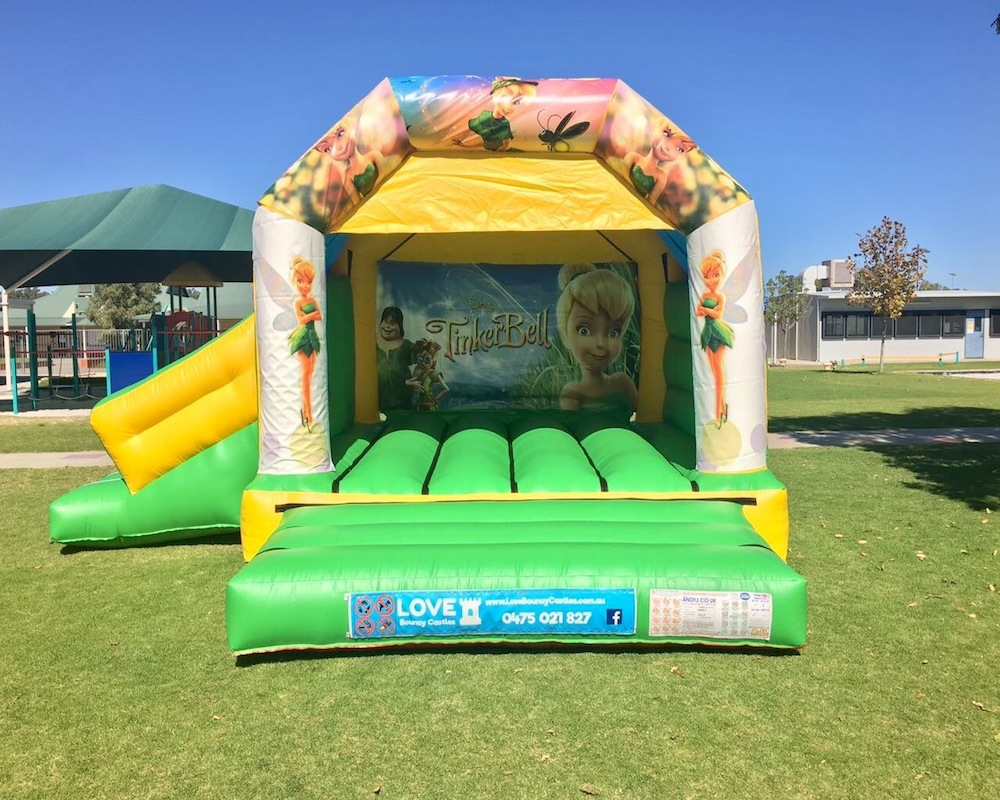 Tinkerbell bouncy castle hire with slide Baldivis
