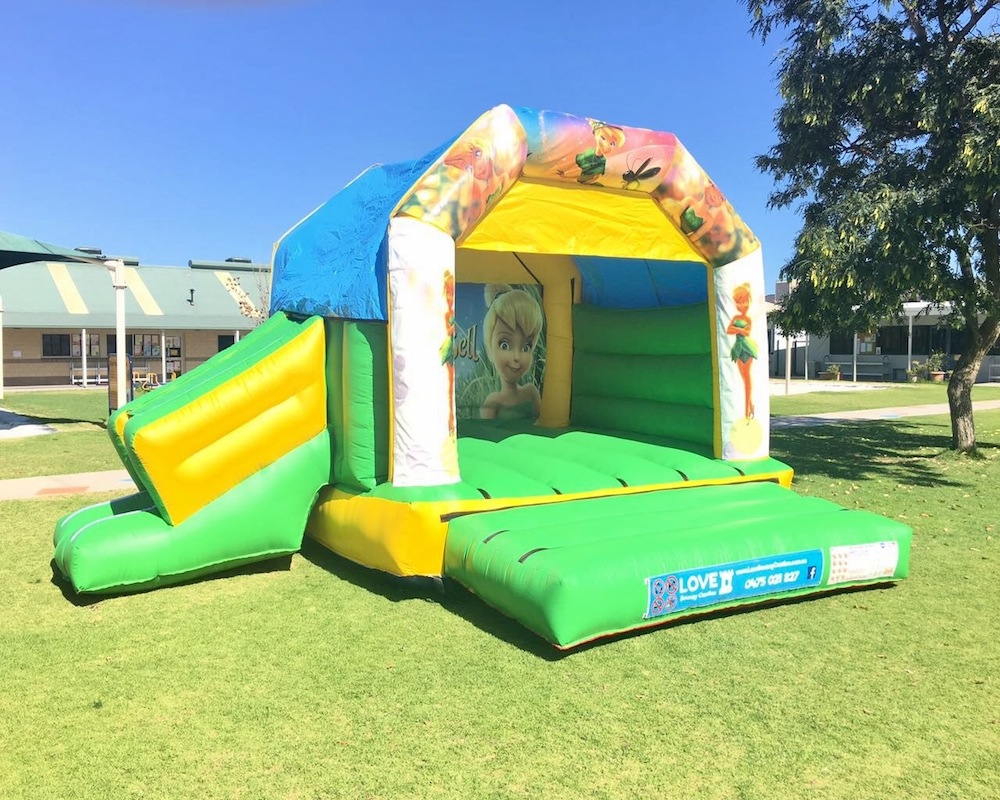 Tinkerbell bouncy castle hire with slide Rockingham