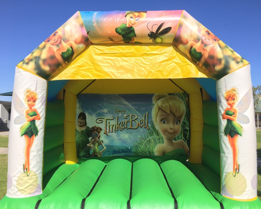 Tinkerbell bouncy castle hire with slide Mandurah