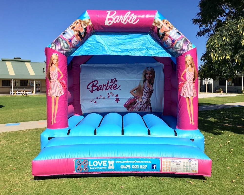 barbie bouncy castle hire