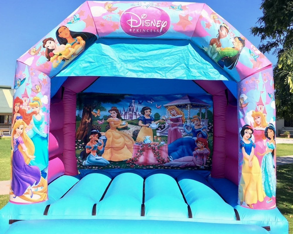 Princess bouncy castle hire with slide Mandurah