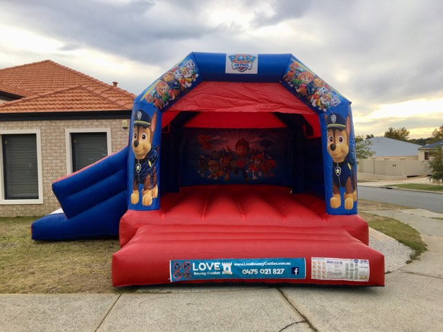 Jungle Book bouncy castle hire with slide Baldivis