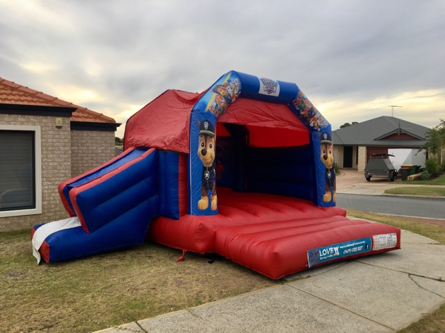 Jungle Book bouncy castle hire with slide Mandurah