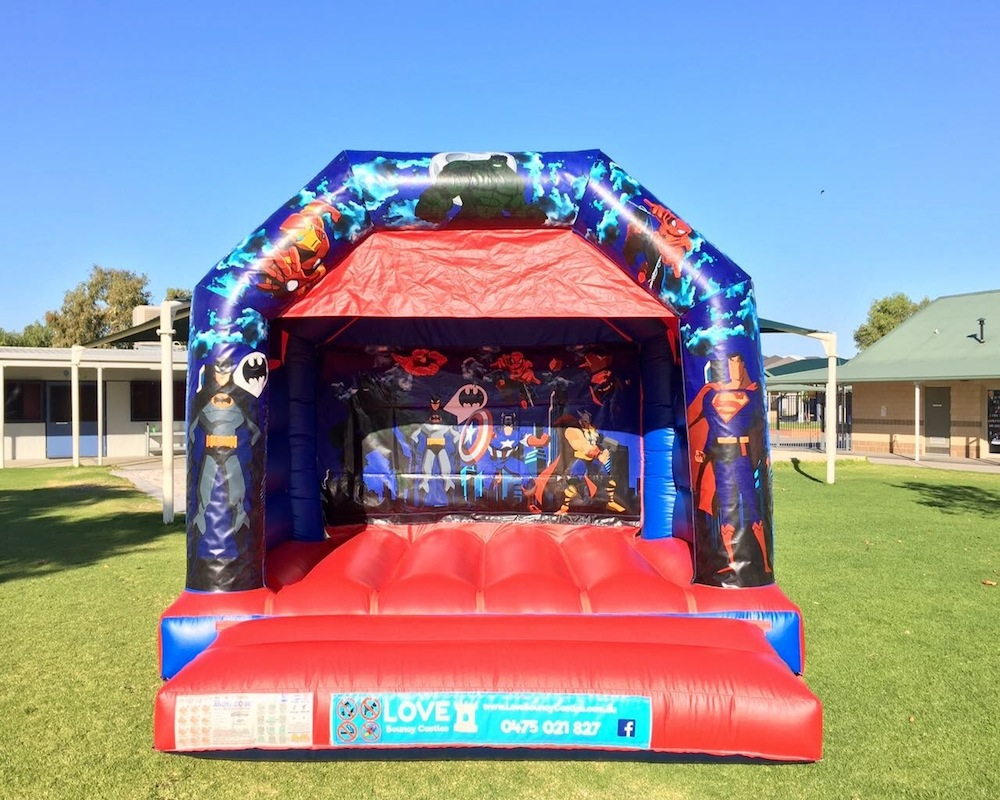 Super Heros Bouncy Castle