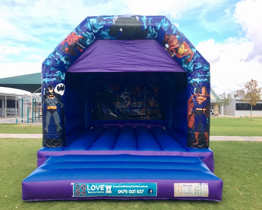 Large Super Heros Bouncy Castle
