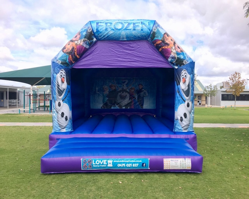 Frozen Large Bouncy Castle Hire Perth - Love Bouncy Castles