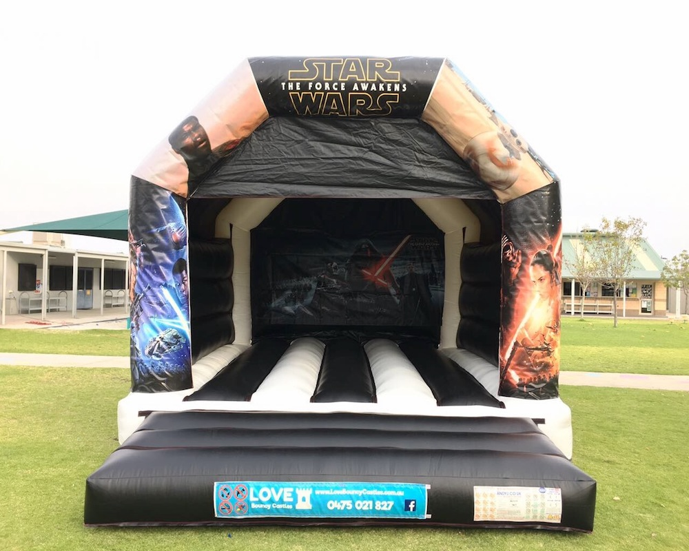 Starwars Large Bouncy Castle Hire Perth - Love Bouncy Castles