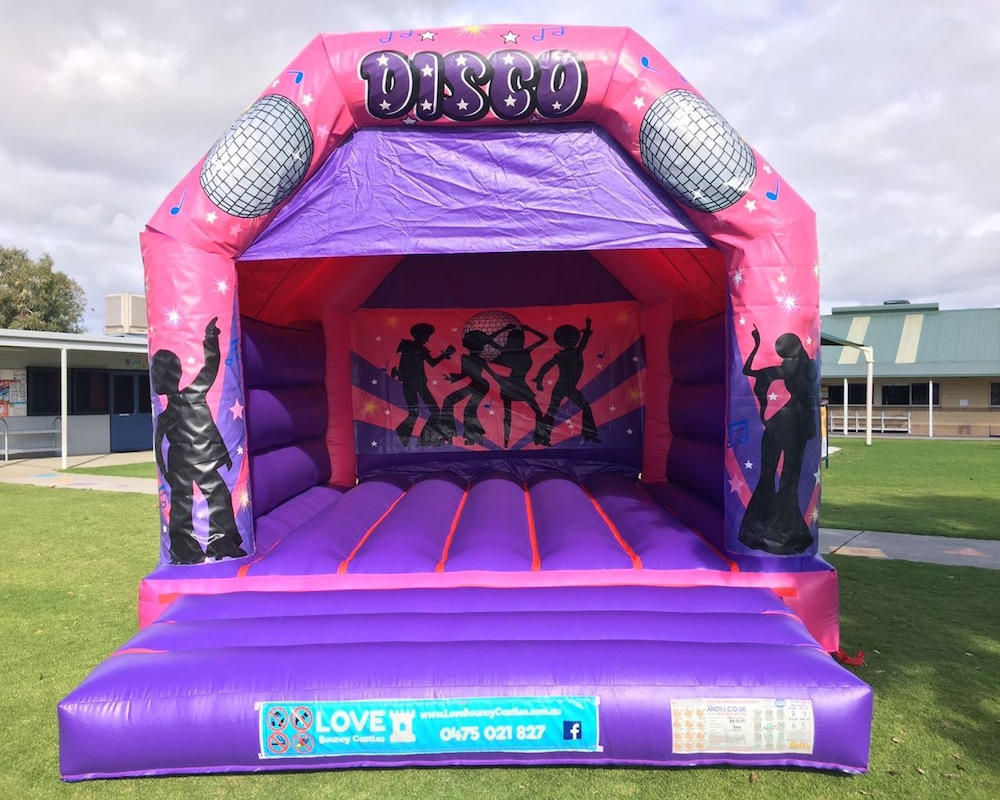 DISCO FEVER LARGE BOUNCY CASTLE $349