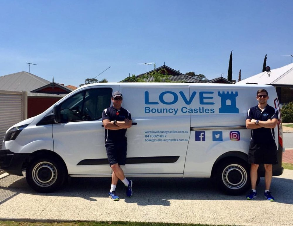 Copy of 2 Staff Members Out Delivering Jumping Castles In Perth, WA