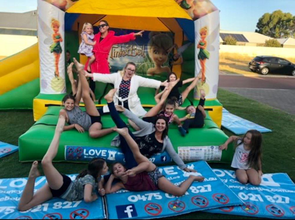 Copy of Happy Customers On A Tinkerbell Themed Jumping Castle In Perth, WA