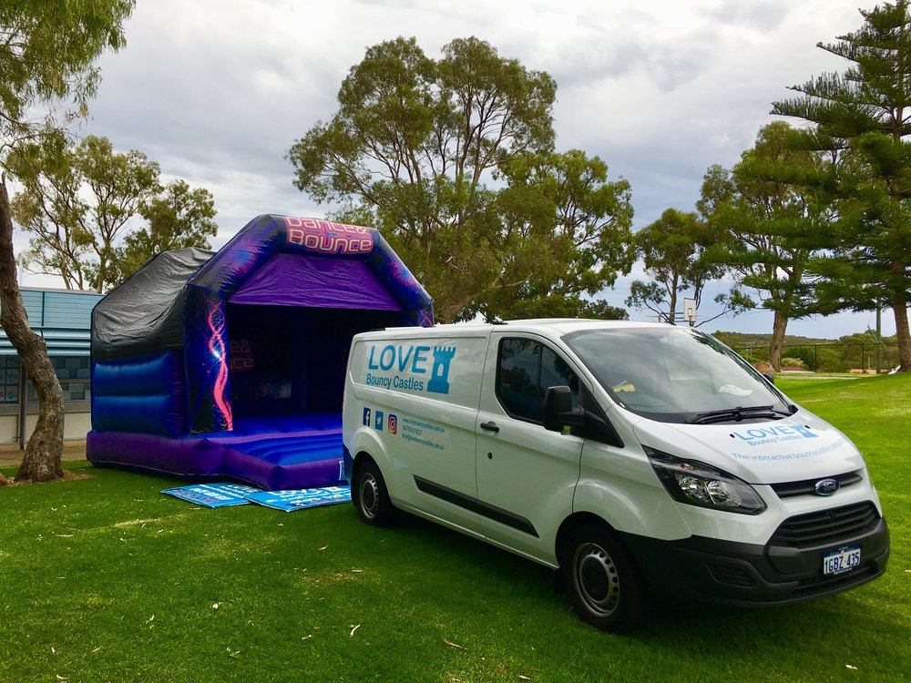 Copy of Setting Up A Large Bouncy Castle For An Event In Perth, WA