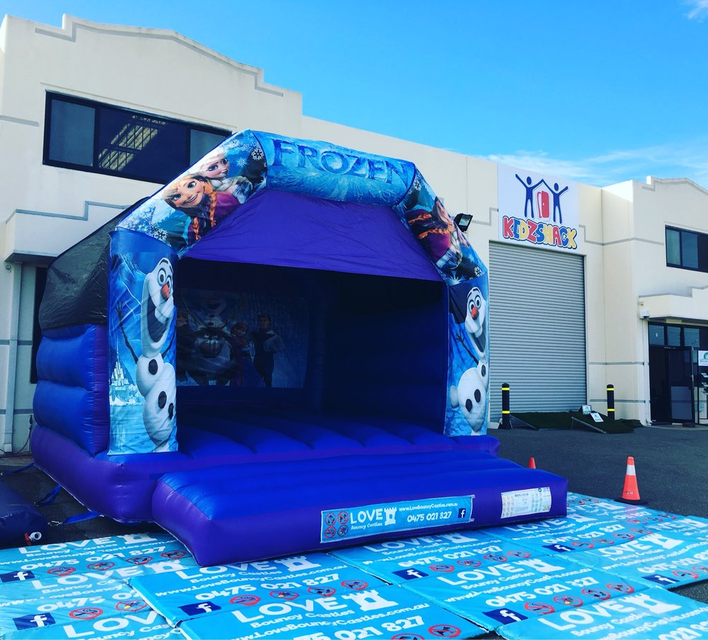 Copy of Frozen Bouncy Castle Set Up In Perth For A Shop Opening.