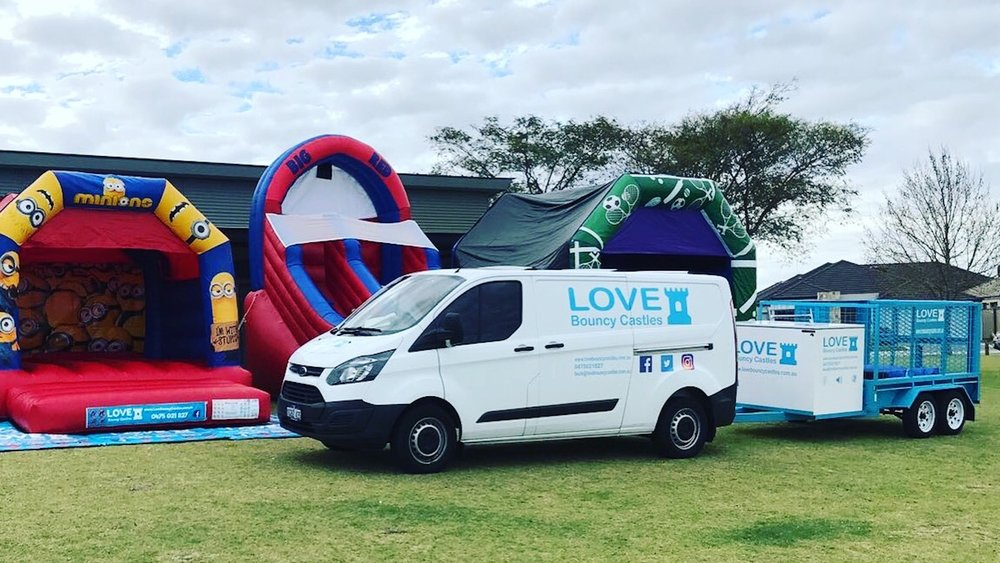 Copy of Sports Day Event With Bouncy Castles Set Up In Perth