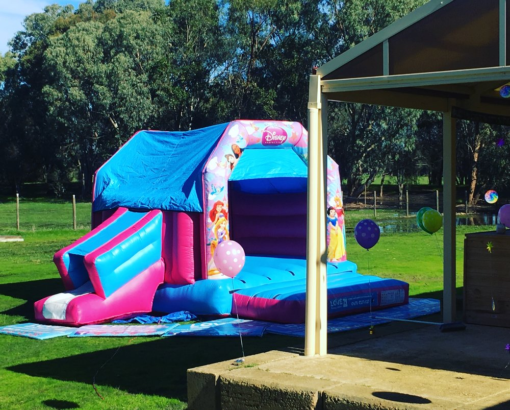Copy of Princess Combo Jumping Castle Set Up In Perth, WA