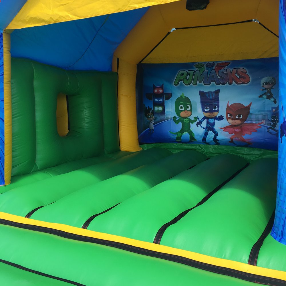PJ Masks Bouncy Castle Hire With Slide Mandurah