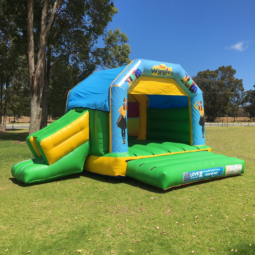 Wiggles Bouncy Castle Hire With Slide Rockingham