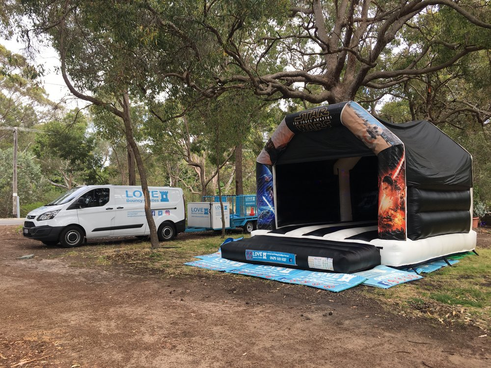 Adult Star Wars Bouncy Castle Set Up In Perth, Western Australia