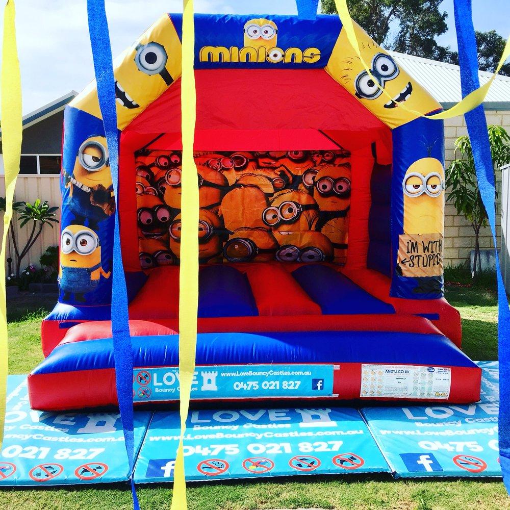 Minions Bouncy Castle Hire Perth