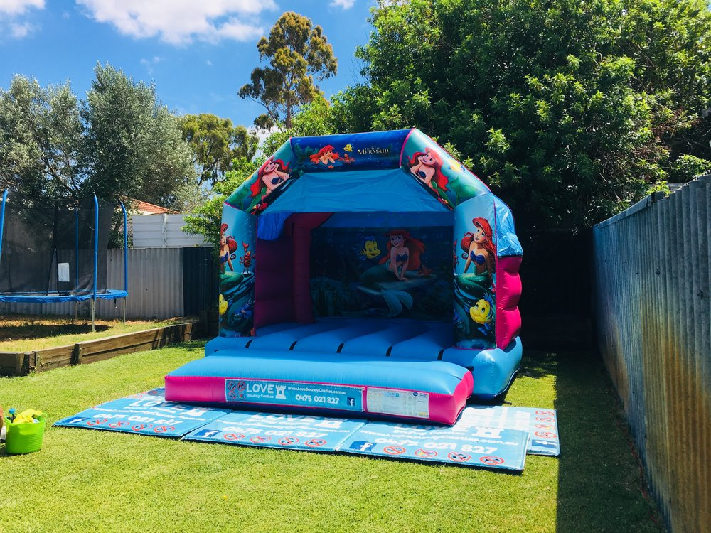 Little Mermaid Bouncy Castle Hire Perth