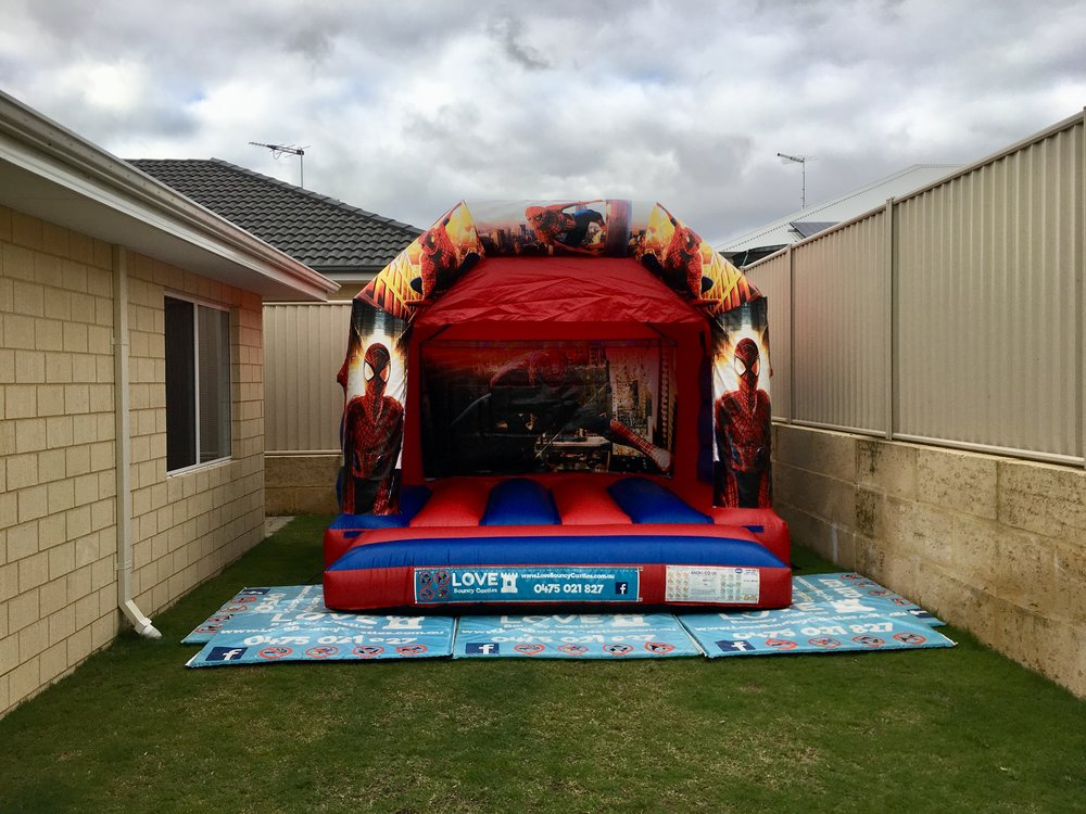 Spider-Man Bouncy Castle Hire Perth