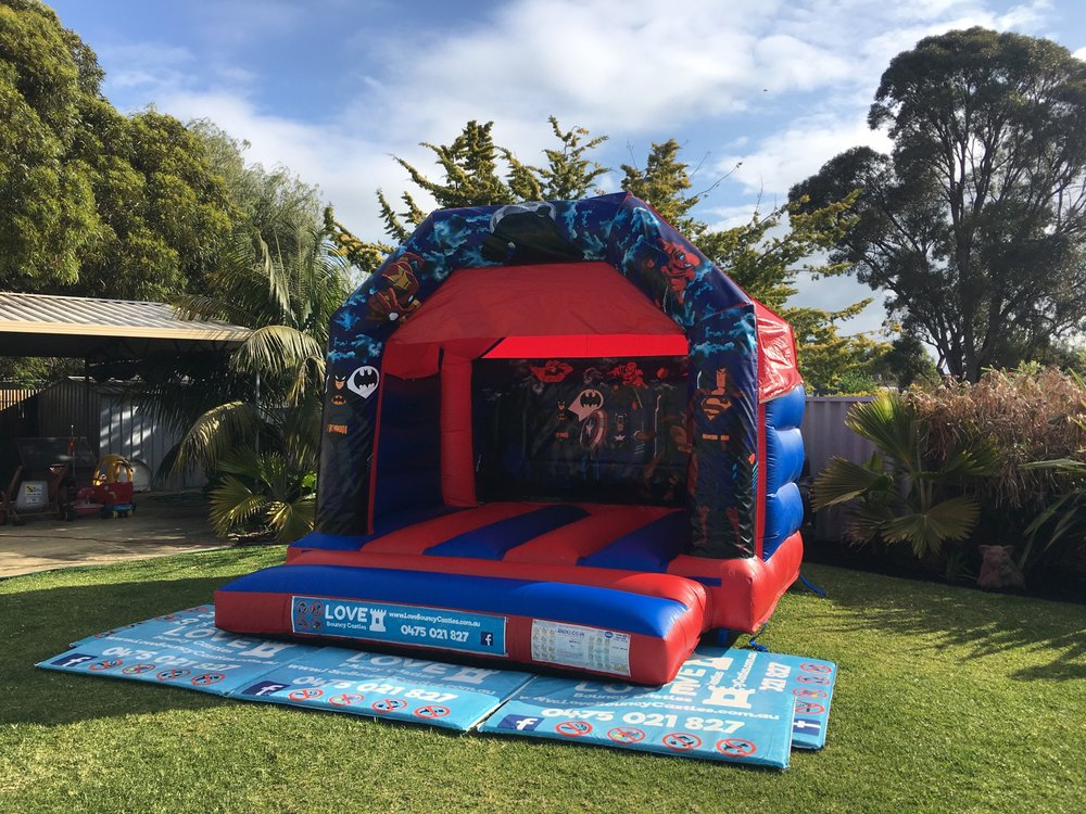 Small Super Heros Bouncy Castle Perth
