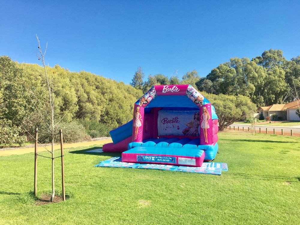Barbie Bouncy Castle With Slide In Perth