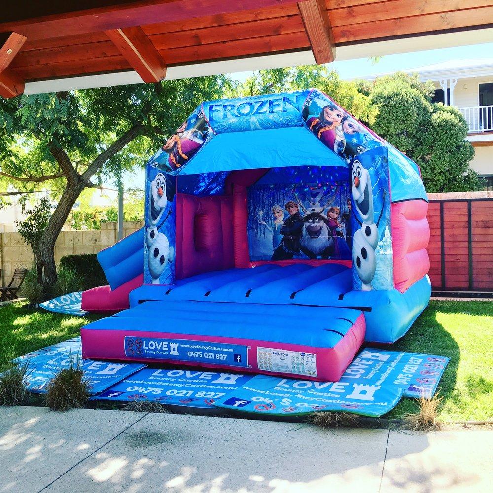 Frozen Bouncy Castle With Slide In Perth