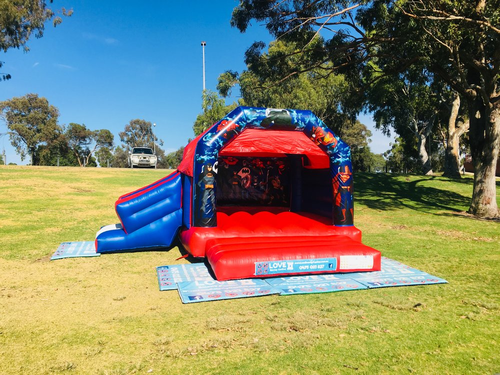 Super Heros Bouncy Castle Hire Perth