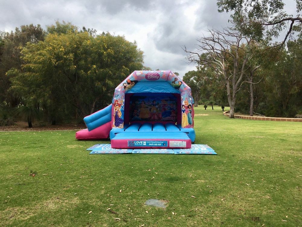 Princess Combo Castle Set Up In Perth Park